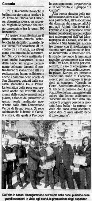 Articolo de 'Il Gazzettino'