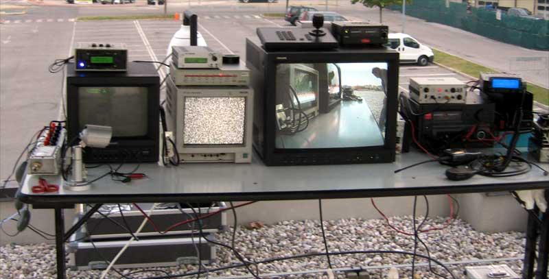 le apparecchiature video della regia