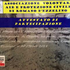 Esercitazione di P.C. Romano d'Ezzelino 2018